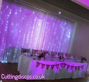 starlit wedding backdrop